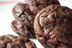 Brownie Mix Cookies.  Adapted from I Take Joy.  Makes 18-22 cookies.  1 box brownie mix [I used Ghiradelli Triple Chip];  3 tbs flour;  2 eggs;  1/3 cup oil.  Preheat oven to 350 degrees. Line cookie sheets. with parchment paper.  In large bowl, mix flour into dry brownie mix.  In separate bowl, beat eggs with oil. Stir into brownie mix, until thick dough forms.  Drop rounded spoonfuls of dough on cookie sheets. Bake for 10-11 minutes. Let cool for 2 minutes on tray, then transfer to cooling…