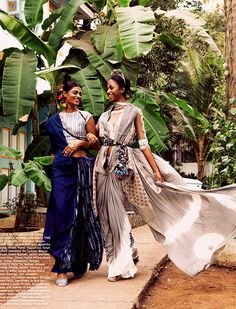 """""""Poetry in Motion // Archana Akil Kumar & Sydney Nelson for Harper's Bazaar Bride India April 2016 photography Quirky Fashion, Royal Fashion, Ethnic Fashion, Asian Fashion, Indian Photoshoot, Saree Photoshoot, Pakistani Outfits, Indian Outfits, Indian Clothes"""