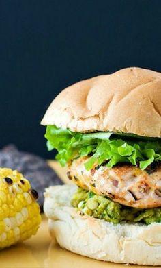 Cheddar Jalapeno Burgers with Guacamole   skinnymom.com