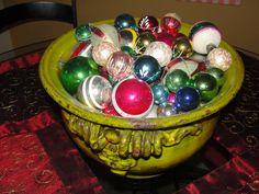 vintage Christmas balls.