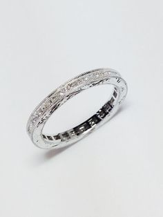 1.00CT Diamond Stackable Band Eternity Ring Wedding Rings Art