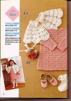 kids fashion: beautiful dress and cape, crochet patterns | make handmade, crochet, craft