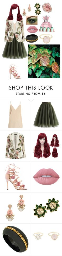 """""""Poison Ivy"""" by lil1daffodil2baby3girl4 ❤ liked on Polyvore featuring Raey, Chicwish, VILA, Marchesa, Lime Crime, China Glaze, First People First, Roman Luxe, Charlotte Russe and Diane James"""