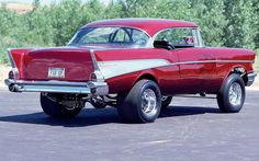 Old School Muscle Cars, Chevy Muscle Cars, Hot Rods, Ford Mustang, 57 Chevy Bel Air, 1957 Chevrolet, Us Cars, Sport Cars, Drag Cars