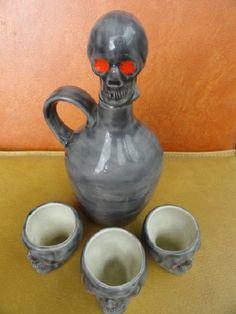 Skull decanter vintage Halloween skull skull by raspberryrobin, $24.00