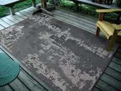 """4'5"""" x7' (135x215cm) Vintage Faded Design Rug, GreyIndoor & Outdoor Area Rug, Easy to Clean, UV protected & Fade Resistant Furnishmyplace 1126"""