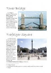 English worksheet: LONDON - sights, part 3/4