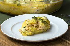 Aprenda a fazer o escondidinho de batata doce e frango cremoso:   Este escondidinho de batata doce com frango é para comer sem culpa