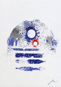 Star Wars paint splatter: R2D2