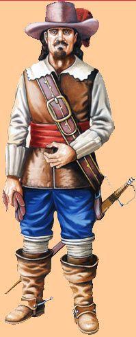 Capitán de los Tercios de Flandes en la primera mitad del siglo XVII.