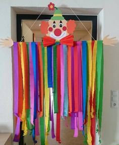 Ocean Kids Crafts, Preschool Crafts, Crafts For Kids, Clown Crafts, Carnival Crafts, Diy Crafts For Gifts, Paper Crafts, Carnival Classroom, Teachers Day Card