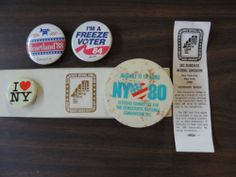 Vintage Political Campaign Buttons Pin Democratic National Convention 1980 1984 1988
