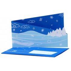 Felblauwe fairtrade kerstkaart met uitklapbaar stylistische kerstlandschap       Buitenkant felblauw, binnenzijde donkerblauw met witte elementen. Gemaakt van gerecyclede materialen. Met blauwe envelop. Afmetingen ingeklapt: 17 x 10 cm. Afmetingen uitgeklapt: 41 x 10       Geproduceerd door Watabaran in Kathmandu - Nepal, naar Zweeds ontwerp.     De laatste 25 kaarten!    Te koop bij www.fairtrade-wenskaarten.nl