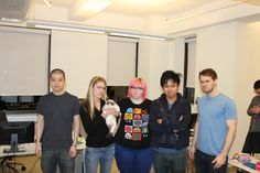 Grumpy Cat with the crew from KnowYourMeme