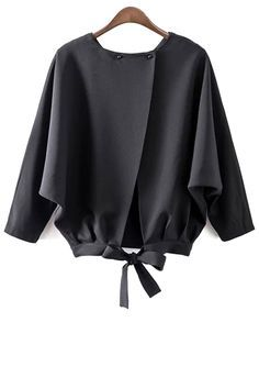 Batwing Sleeve Tie Back Blouse