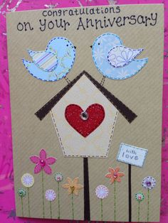 Two Birds Anniversary Card :)