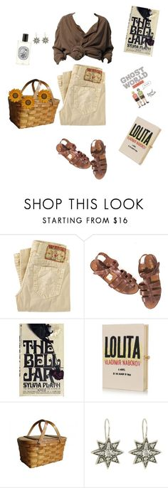 """do you know i am do you know just what to do"" by melsuds ❤ liked on Polyvore featuring True Religion, Edition, Olympia Le-Tan, Diptyque, vintage, Summer, Bohemian and old"