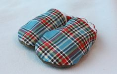 Blue plaid boy shoes by TheTinyDictator on Etsy