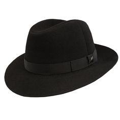 a0027615c59 The Borsalino Roll-Up Hat is a fine quality fur felt fedora with a smooth  centerdent crown and 2 inch downbrim. DelMonico Hatter