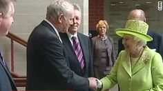 The meeting between the queen and McGuinness The meeting is a sign of the easing of tensions in British-Irish relations.
