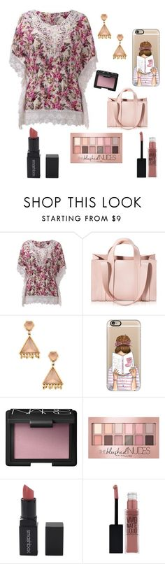 """Blushing"" by med00215 ❤ liked on Polyvore featuring Corto Moltedo, Phillips House, Casetify, NARS Cosmetics, Maybelline and Smashbox"