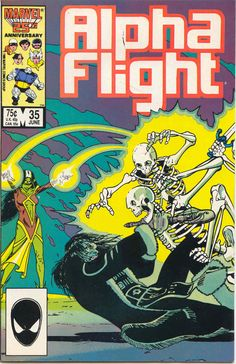 Alpha Flight #35 (June 1986) - Cover by Dave Ross