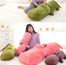 1 peça tamanho pequeno 50 cm hipopótamos boneca dormir travesseiro boneca de pano brinquedo de pelúcia grande presente de aniversário(China (Mainland))