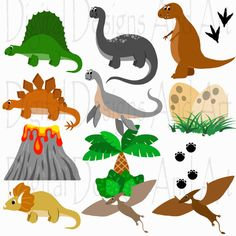 Dinosaur clipart, Dino clip art, Digital clipart animals, Clipart Elements, Dino clipart, T-rex, Dinosaurs clipart, Underwater clipart