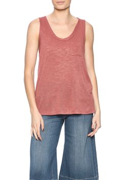 Terry cloth tank top with a scoop neckline, racer back and front breast pocket.   Light-Weight Slub by Polly and Esther. Clothing - Tops - Sleeveless Clothing - Tops - Tees & Tanks New York City