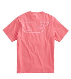 Make it a vintage summer! As comfortable as an old friend, our Vineyard Vines Vintage Whale Pocket T-Shirt in Lobster Reef is designed to look just right the very first time you put it on. - 100% cott
