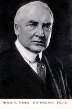 Warren Gamaliel Harding (November 2, 1865 – August 2, 1923) was the 29th President of the United States (1921–1923).