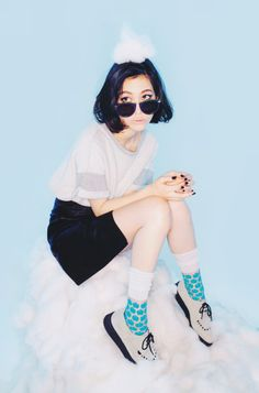 white creepers blue socks
