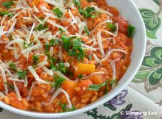 Slimming Eats Syn Free Roasted Butternut Squash and Tomato Risotto - gluten free, vegetarian, Slimming World and Weight Watchers friendly Slimming World Vegetarian Recipes, Vegan Slimming World, Slimming Eats, Healthy Eating Recipes, Diet Recipes, Healthy Food, Recipies, Tomato Risotto, Butternut Squash Risotto