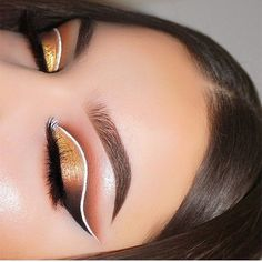 So CRISP  @mmtmakeup_ used our White Liquid Liner in this cut crease look!  Tap for deets! || #nyxcosmetics #crueltyfreebeauty