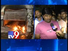 Fire accident in a crackers godown in Bollaram industrial area