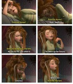 Well, to start, she wakes up like this: | 17 Reasons Why Anna Should Be Your Favorite Disney Princess