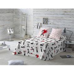 Colcha cubre juvenil VIÑETAS de LA VOLATIL cama de 90, 105, 135, 150 y 180 cm