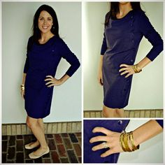 How awesome is this soft knit side button dress that can also double as a top??!! Available in this purple, charcoal and fuchsia XS-XL $72