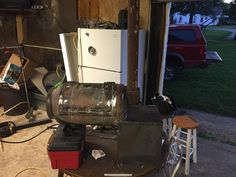 Reverse flow mini for camping and tailgating | Page 2 | Smoking Meat Forums - The Best Barbecue Discussion Forum On Earth! Smoker Designs, Smoking Meat, Tailgating, Barbecue, Flow, Camping, Earth, Mini, Campsite