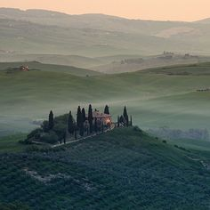 The Val D'Orcia , province of Siena Tuscany, Italy