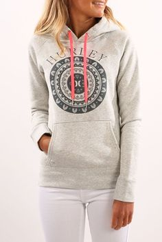 22479bb22a7e5 Ornate Pop Fleece Heather Grey Hoodie Outfit