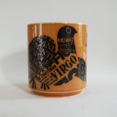 Virgo John Clappison Hornsea Mug Hornsea Pottery, Birthday Fun, Pyrex, Virgo, Orange Color, Art Decor, Product Launch, China, Retro