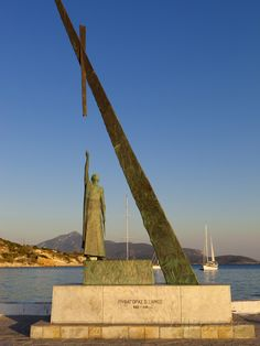 Statue of Pythagoras (Greek Philosopher and Mathematician), Pythagorion, Samos, Greece Photographic Print at AllPosters.com