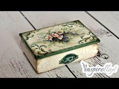 Decoupage krok po kroku - pudełko babuni z papierem ryżowym (zwiastun) - YouTube