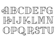First pass at a cap letter set. Mostly created just as an fun type exercise.