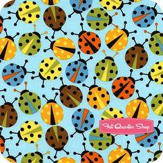 Urban Zoologie Bermuda Ladybugs Yardage SKU# 11504-237