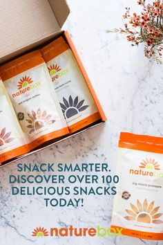 At NatureBox we combine unique flavors with ingredients you can trust to create great snacks that satisfy any craving. We have over 100 snacks to choose from, and add new ones every month. Snack better with NatureBox. Get started today to get 2 bags FREE in your first box.