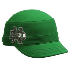 Notre Dame Fighting Irish Ladies Sparkle Adjustable Military Hat - MUST HAVE!!!