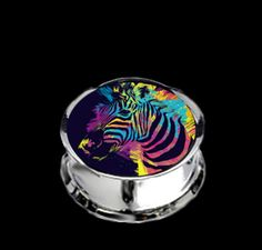 Pair Stainless Steel Zebra Plugs for Stretched Ears - Pick Your Size, Custom Made