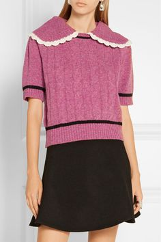 Pink and black wool Slips on 100% wool Dry clean Designer color: Begonia Made in…